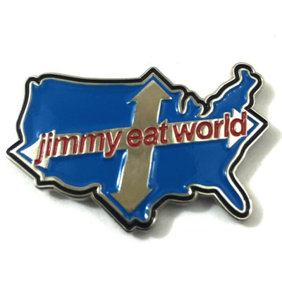 Jimmy Eat World - Across America Enamel Pin