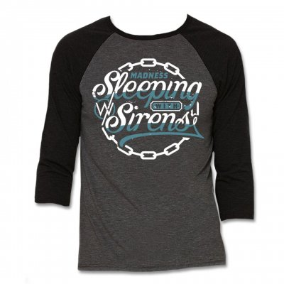 sleeping-with-sirens - Chain Logo Raglan (Heather/Black)