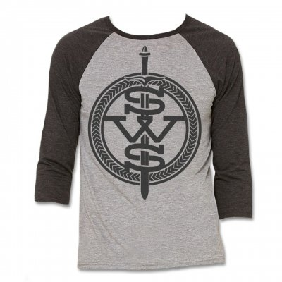 sleeping-with-sirens - Grey Symbol Logo Raglan (Heather/Charcoal)