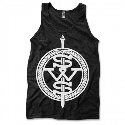 Sleeping with Sirens - White Symbol Logo Tank Top (Heather Black)