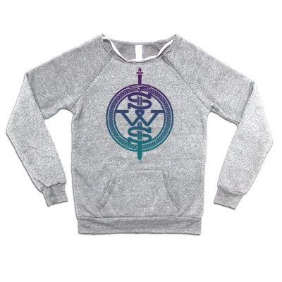 Sleeping with Sirens - Purple Fade Symbol Logo Sweatshirt (Heather Grey)