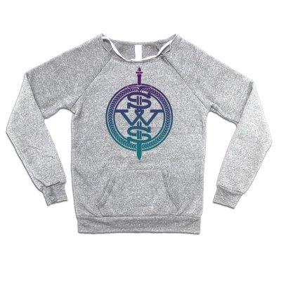 sleeping-with-sirens - Purple Fade Symbol Logo Sweatshirt (Heather Grey)