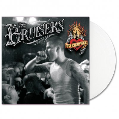 bruisers - Up In Flames LP (White) + Flag T-Shirt Bundle