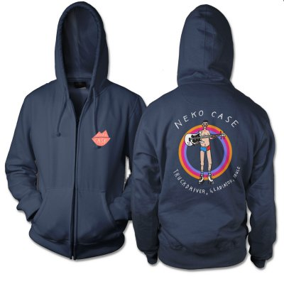 neko-case - Bulington's Man-Skate Zip Up Sweatshirt (Navy)