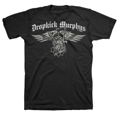dropkick-murphys - Bagpipe Eagle T-Shirt (Black)