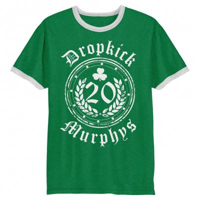 dropkick-murphys - 20 Years Ringer T-Shirt (Kelly Green)