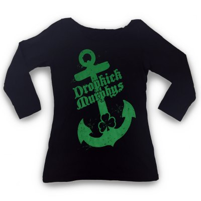 dropkick-murphys - Anchor Boatneck 3/4 Sleeve Top- Women's (Black)