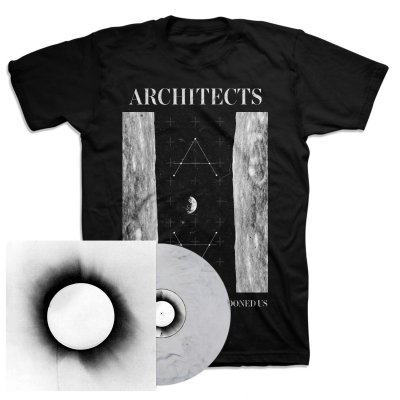 Architects - All Our Gods Have Abandoned Us LP (White w/Black) + Moon T-Shirt Bundle