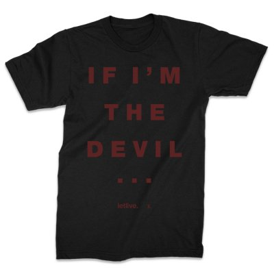 Letlive - Devil Text T-Shirt (Black)