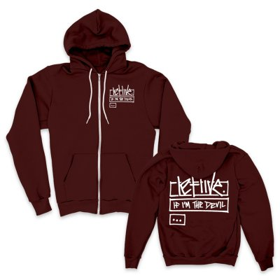 letlive - Jive Zip Up Sweatshirt (Burgundy)