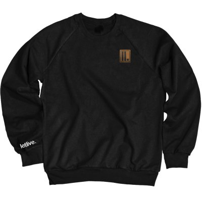 letlive - ll. Embroidered / Leather Patch Crew Neck