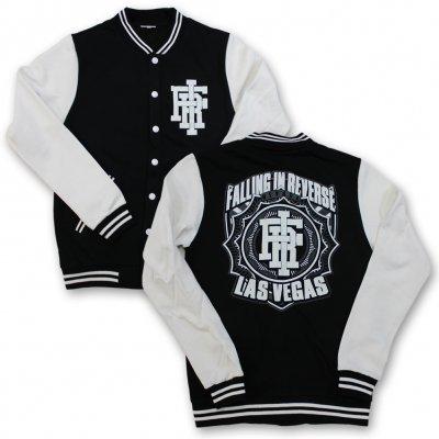 falling-in-reverse - Las Vegas Varsity Jacket (Blk/Wht)