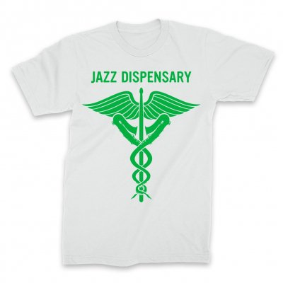 IMAGE | Jazz Dispensary Text Logo T-Shirt (White)