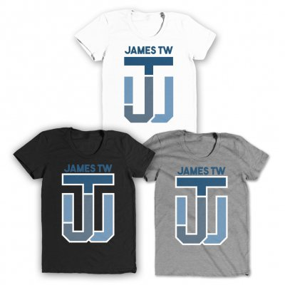 james-tw - JTW Initials Fitted Tee