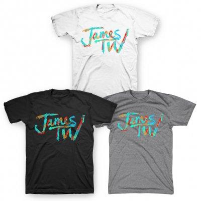 james-tw - James TW Pastel Logo Tee