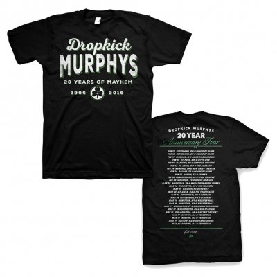 dropkick-murphys - 20 Years of Mayhem Tour Tee
