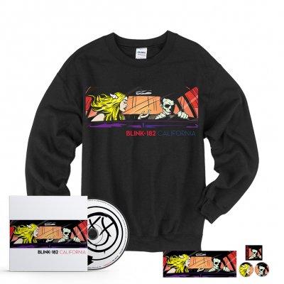 blink-182 - California CD + Crewneck Bundle
