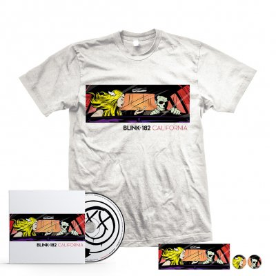 Blink 182 - California CD + T-Shirt Bundle