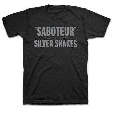 Silver Snakes - Saboteur T-Shirt (Black)
