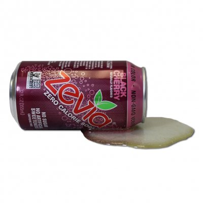 zevia - Black Cherry Fake Spilled Can
