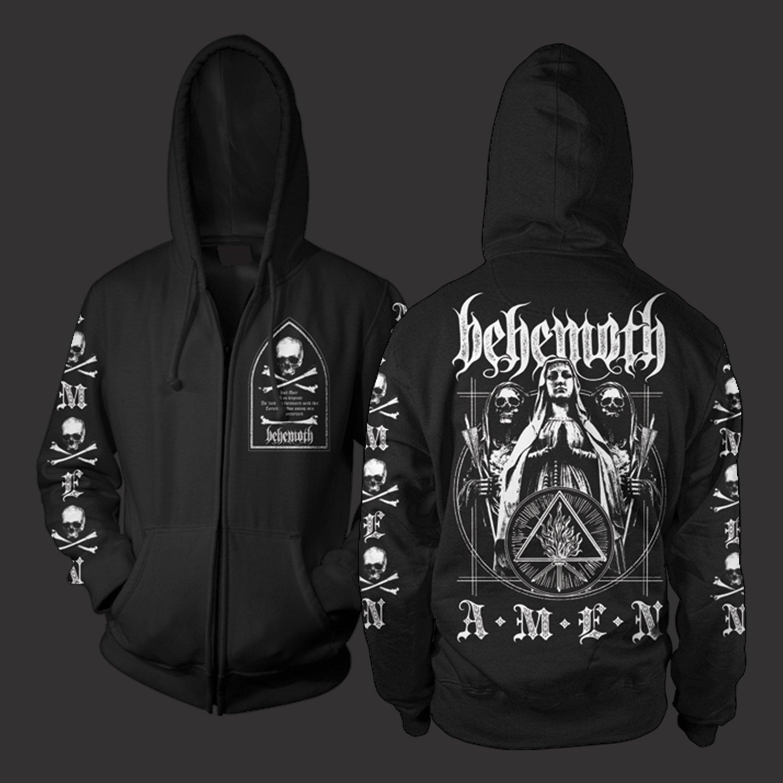 IMAGE   Amen Zip Up Sweatshirt (Black)