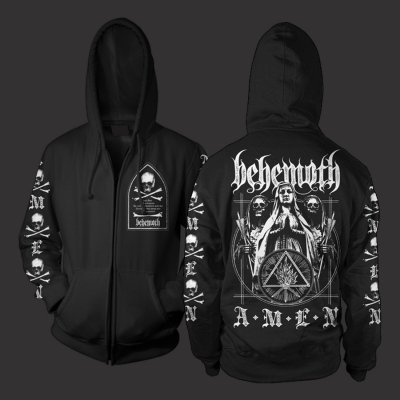 Amen Zip Up Sweatshirt (Black)