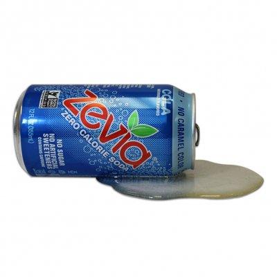 zevia - Cola Fake Spilled Can