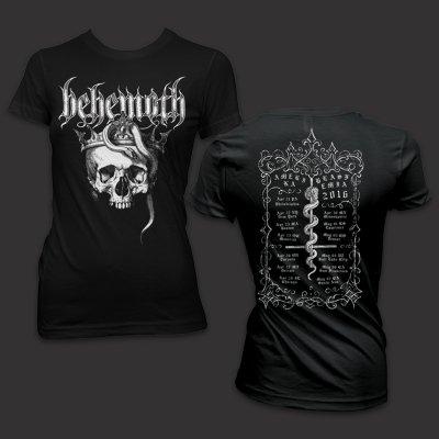 Behemoth - Women's - Amerika Blasfemia 2016 Tour T-Shirt (Bla