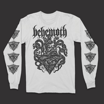 behemoth - Deathcrest Longsleeve T-Shirt (White)