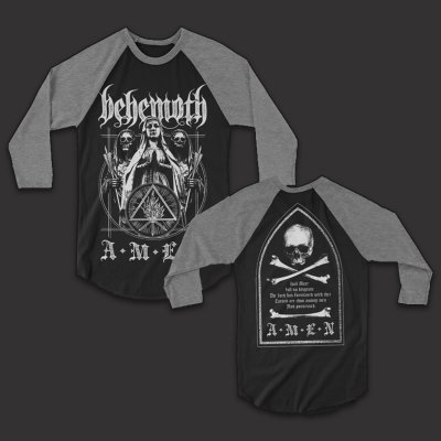 behemoth - Amen Raglan (Black/Snow)