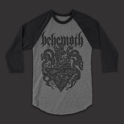 behemoth - Deathcrest Raglan (Grey/Black)