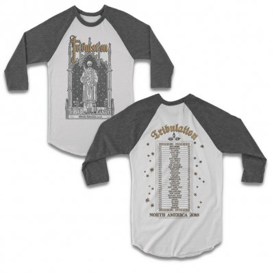 tribulation - 2016 Tour Raglan (White/Heather)