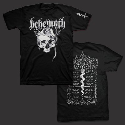 Behemoth - Amerika Blasfemia 2016 Tour T-Shirt (Black)