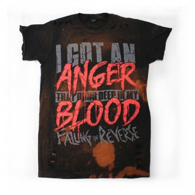 "falling-in-reverse - ""Anger In My Blood"" Trashed Limited Edition Tee"