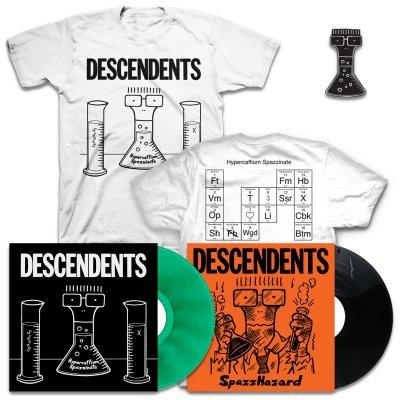 IMAGE   Hypercaffium Spazzinate LP (Green) + Spazzhazard EP + Hypercaffium T-Shirt + Enamel Pin Bundle