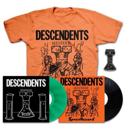 Hypercaffium Spazzinate LP (Green) + Spazzhazard EP + Spazzhazard T-Shirt + Enamel Pin Bundle