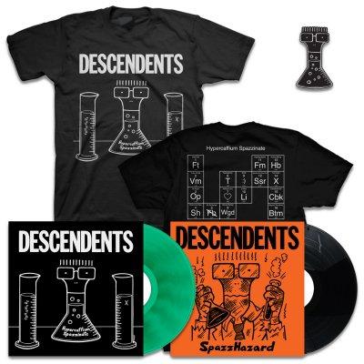 Hypercaffium Spazzinate LP (Green) + Spazzhazard EP + Hypercaffium T-Shirt + Enamel Pin Bundle