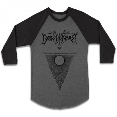 borknagar - The Path Raglan (Heather Grey/Black)