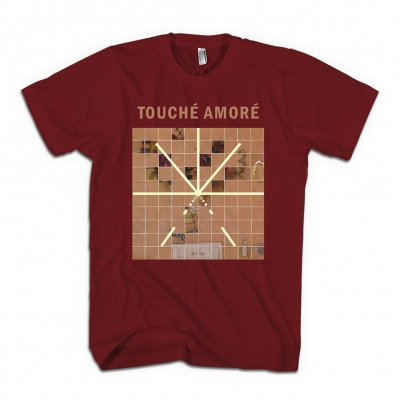 Touche Amore - Stage Four Album Art T-Shirt (Cardinal)