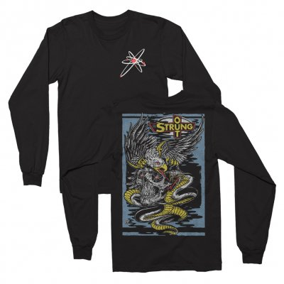 Eagle Skull Long Sleeve Tee (Black)