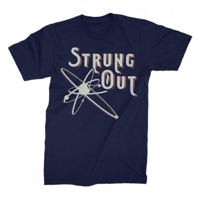 strung-out - Western Letters Astrolux Tee (Navy)