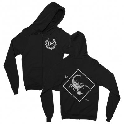 Death Spells - Scorpion Zip Up Sweatshirt (Black)