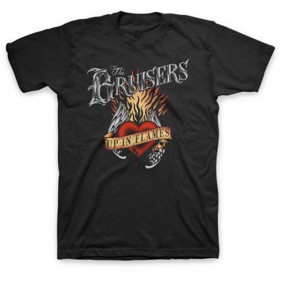 bruisers - Up In Flames T-Shirt (Black)