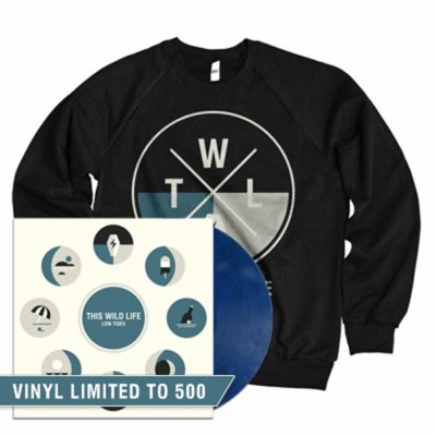this-wild-life - Low Tides Vinyl LP (Blue) + Crewneck Bundle