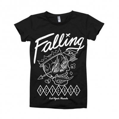 Falling In Reverse - Flaming Skull Tee