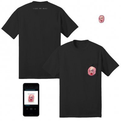 Light We Made Digital Album + Pocket T-Shirt (Black) + Enamel Pin Bundle