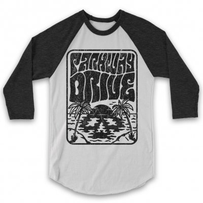 Parkway Drive - Tropics Raglan (White/Heather)