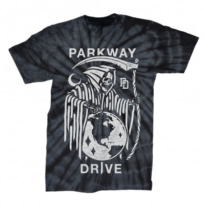 parkway-drive - Reaper T-Shirt (Black Spider Tie Dye)