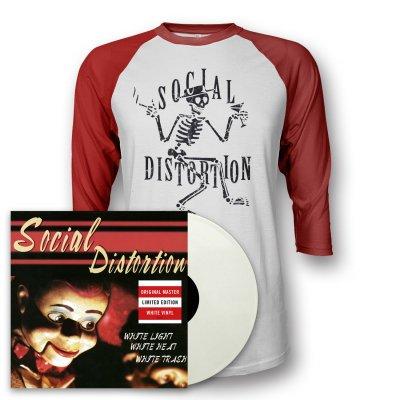 social-distortion - White Light LP (White) + Skelly Raglan (Red/White)
