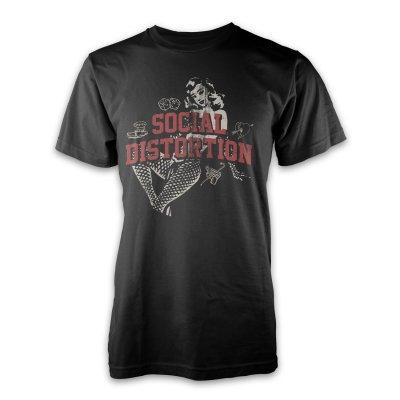 Social Distortion - White Light Icon T-Shirt (Black)